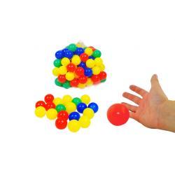 200 vnt. spalvotų plastikinių kamuoliukų
