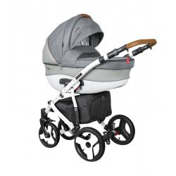 Universalus vežimėlis COLETTO FLORINO CARBON 3in1 džinsinė pilka