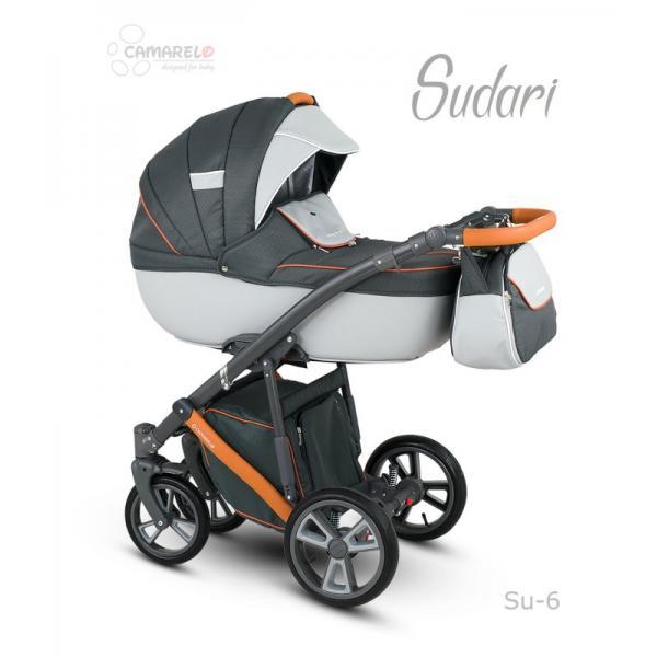 Universalūs vežimėliai Camarelo Sudari 3in1 oranžinė