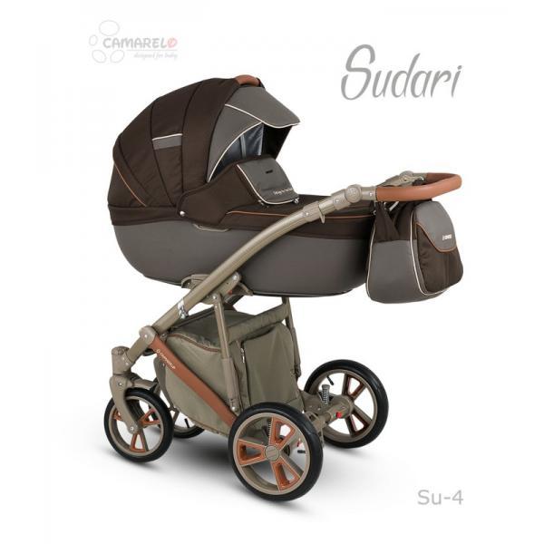 Universalūs vežimėliai Camarelo Sudari 3in1 ruda