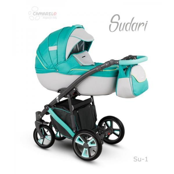 Universalūs vežimėliai Camarelo Sudari 3in1 žydra