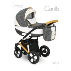 Universalūs vežimėliai Camarelo Canillo 3in1 juoda su balta