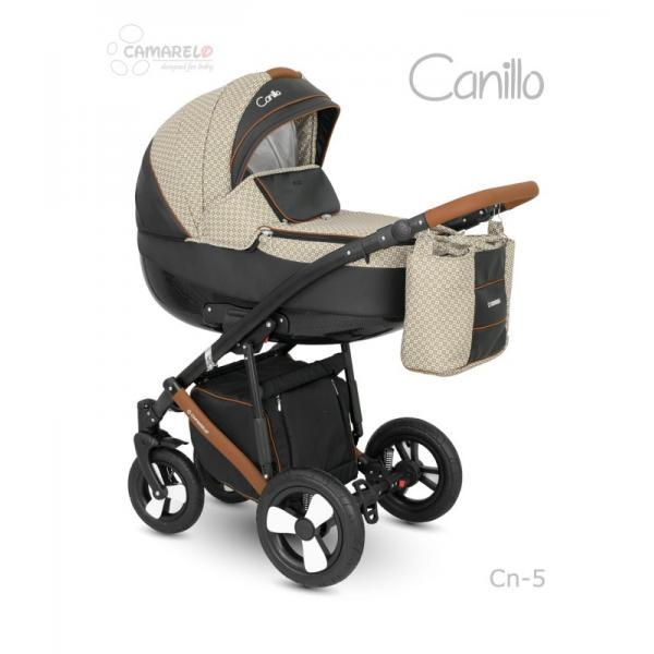 Universalūs vežimėliai Camarelo Canillo 3in1 ruda