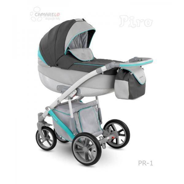 Universalūs vežimėliai Camarelo Piro 3in1 šlapiai pilka