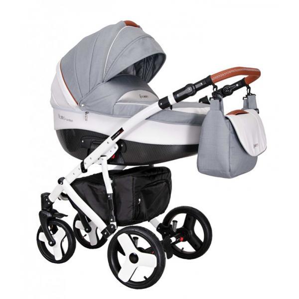 Universalus vežimėlis COLETTO FLORINO CARBON 3in1 šviesiai pilka su ruda