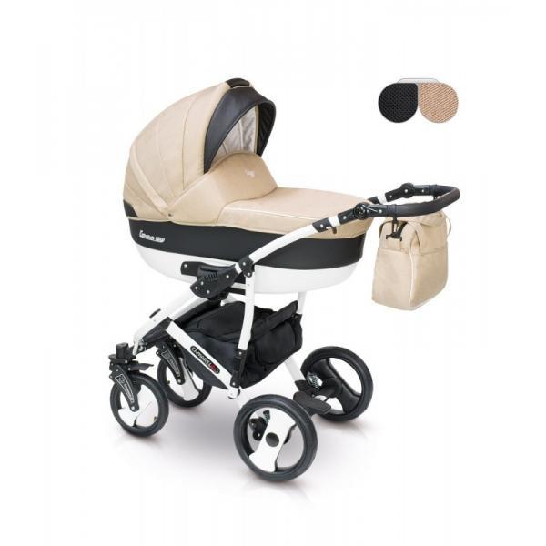 Universalus vežimėlis CAMARELO CARERA 3in1 smėlinė su juoda
