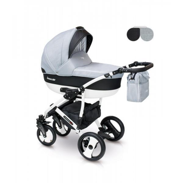 Universalus vežimėlis CAMARELO CARERA 3in1 šviesiai pilka
