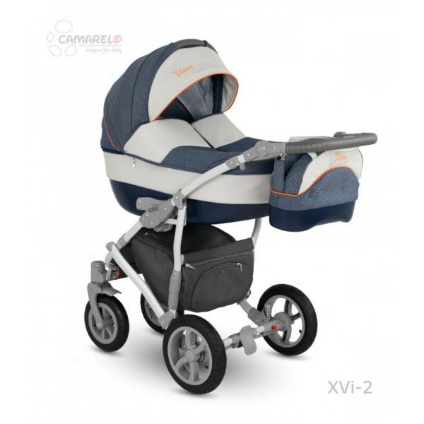 Universalus vežimėlis CAMARELO VISION 3in1 džinsinė mėlyna