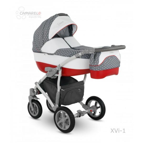Universalus vežimėlis CAMARELO VISION 3in1 pilka su raudona