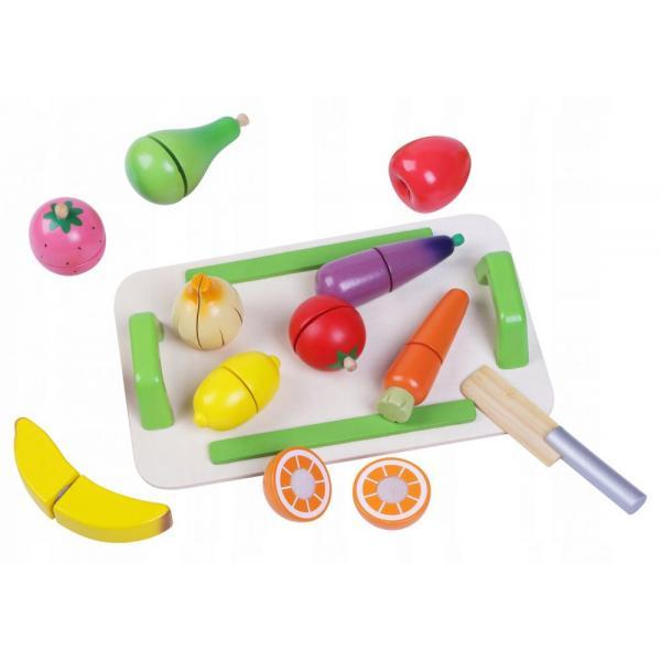 Medinės pjaustomos daržovės ir vaisiai ECO
