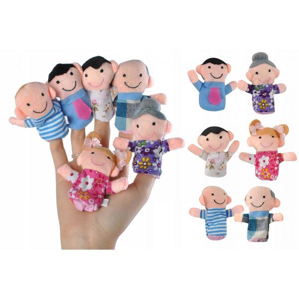 Pirštukų žaisliukai - lėlės Šeima 6vnt.