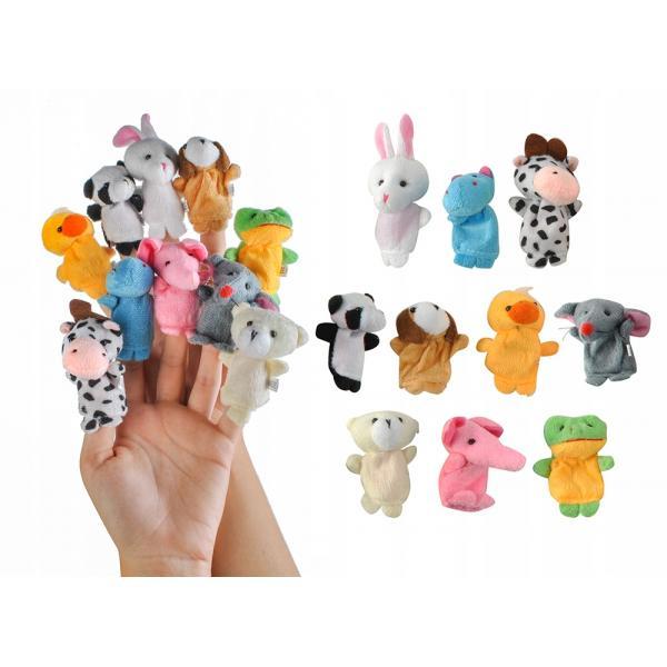 Pirštukų žaisliukai - lėlės Žvėreliai 10vnt.