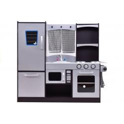 Daugiafunkcinė moderni medinė virtuvėlė Silver Kitchen