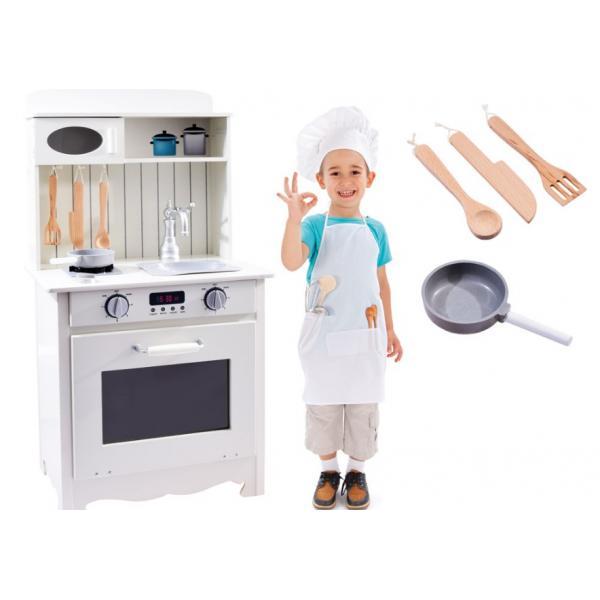 Medinė virtuvėlė su priedais Compact