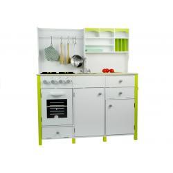 Daugiafunkcinė medinė virtuvėlė Verona žalia