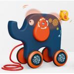 Traukiamas drambliukas