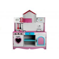 """Daugiafunkcinė moderni medinė virtuvėlė """"Marika"""" 112.5 cm."""