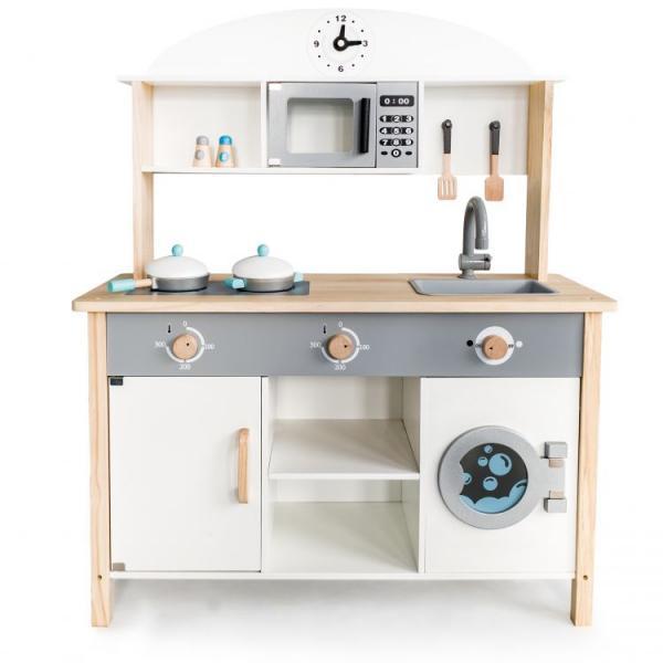 Daugiafunkcinė moderni medinė virtuvėlė ECOTOYS XXL