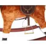 Muzikinis supamas arkliukas mažiesiems rudas 74 cm.
