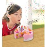 Gimtadienio pjaustomas tortas su 75 vnt. priedų.