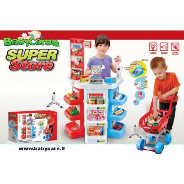 Parduotuvė supermarketas su vežimėliu SUPER STORE