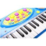 Pianinas sintezatorius su mikrofonu ir 37 klavišais - mėlynas