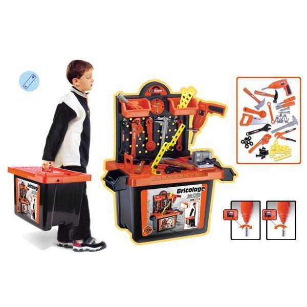Vaikiškas meistro darbastalis - lagaminas XL
