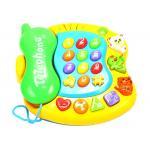 Žaislinis muzikinis telefonas su garsais ir švieselėmis