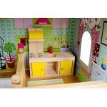 Didelis lėlių namelis su baldeliais ir lėlėmis 90 cm.